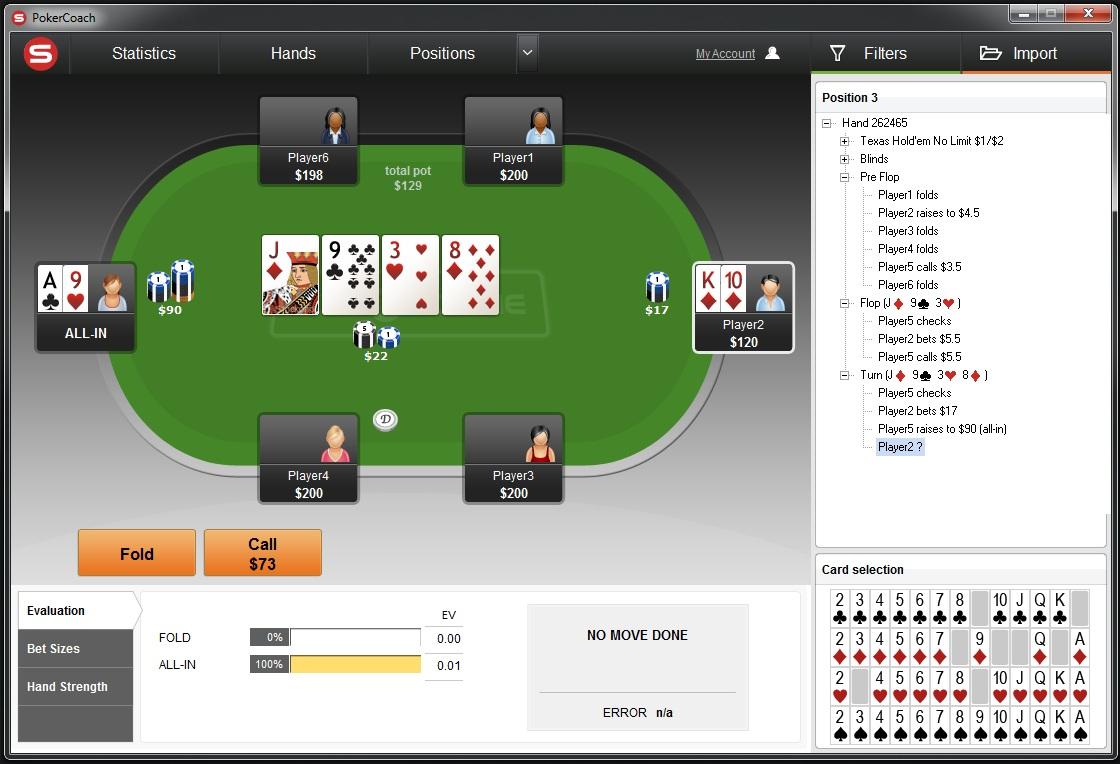 Advanced poker training vs pokersnowie - Play Poker Online