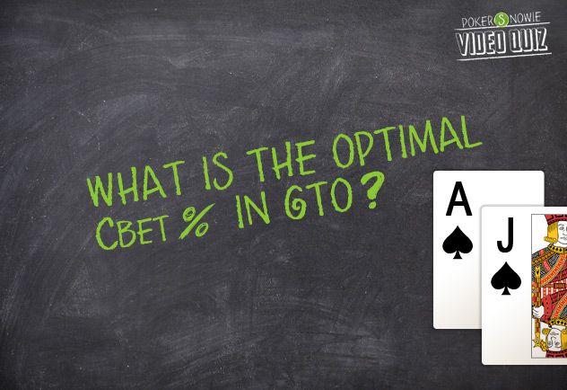 What is the optimal Cbet percentage in GTO?