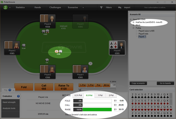 New PokerSnowie feature: ANTE