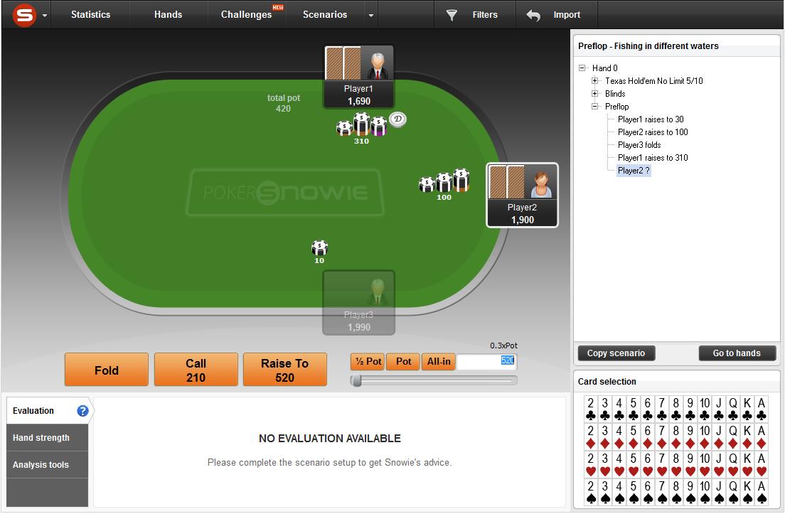Pokersnowie preflop ranges